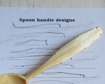 Wooden spoon handles and finials patterns