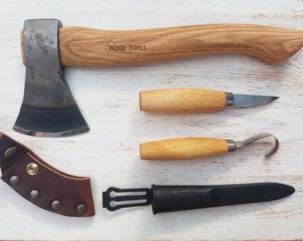 Spoon carving axe & knives kit