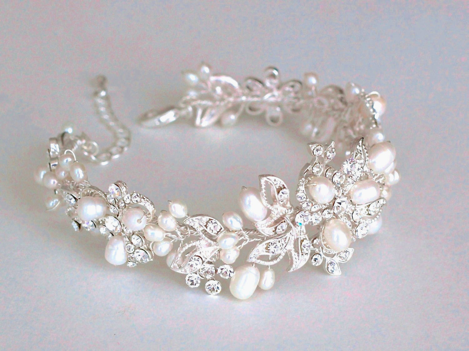Bridal Bracelet. Bridal Accessories. Wedding Bracelet