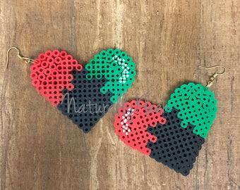 LOVE *Pride* Pixel Earrings - Natural Hair Earrings - Pixel Art