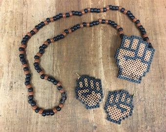 FIST *Pride* Pixel Necklace - Kandi Necklace - Pixel Art