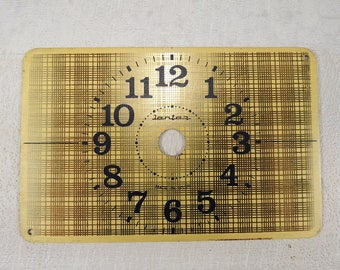 Vintage Brass Clock Face - Big table clock face - Brass watch dial - c168