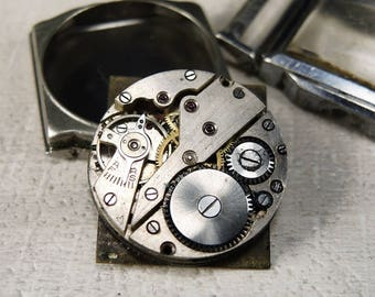 Rare Watch Movement with dial and case - c107