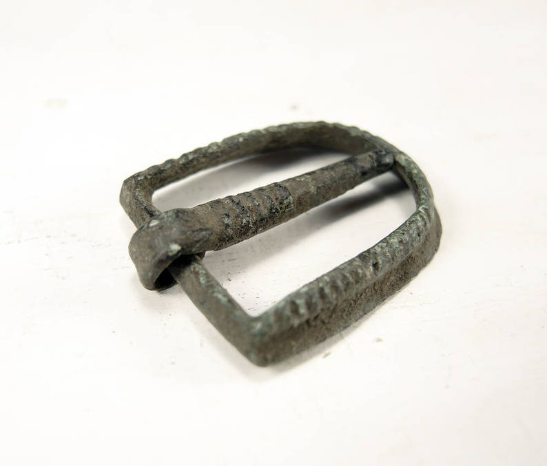 Archaeological Finds a172 Antique Brass Buckle Charm Finding Plate Connector