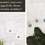 Customize a watercolor necklace, Choose your watercolor, Pick your pendant or lariat design. Silver painted necklace. Many color choices.