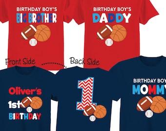1st Birthday Sports Shirt