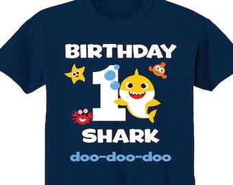 Shark Birthday Shark Birthday personalized Shark Birthday ONE t-shirt shirt 1st birthday Shirt t-shirt birthday First birthday