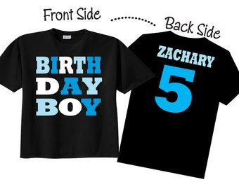 Birthday Boy Shirts And Tshirts For Fifth Or Any On BLACK Shirt