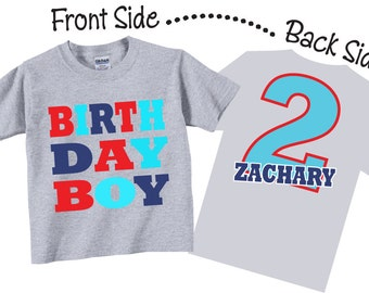 Birthday Boy Shirts And Tshirts For Second Third Any Tees
