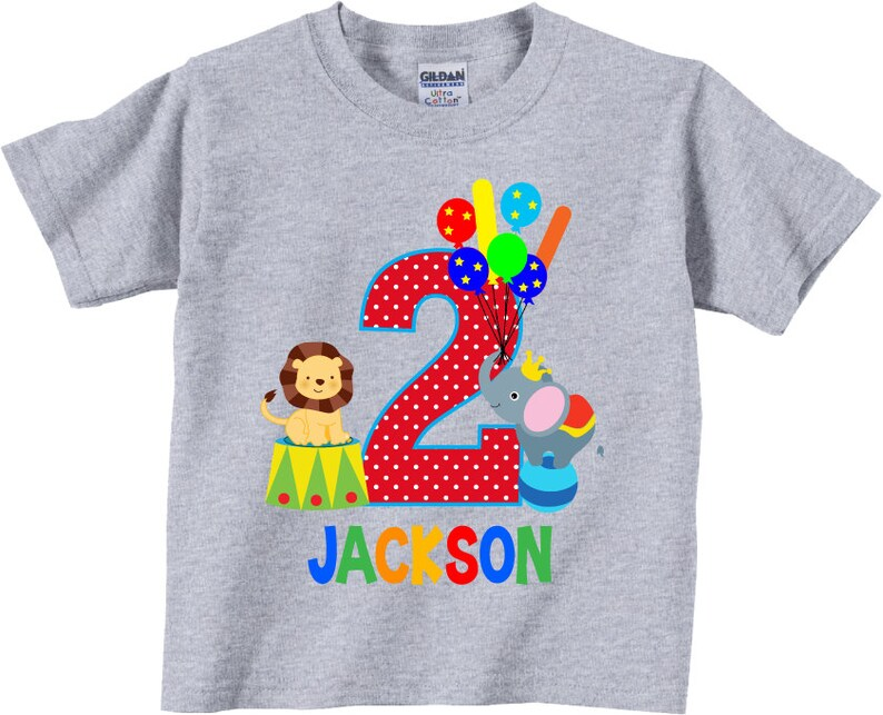 b0b53646 2nd Birthday Shirts and Tshirt with Circus Animals and | Etsy
