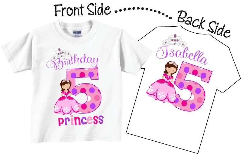 5th Birthday Shirts for Girls with Princess Birthday Princess image 0