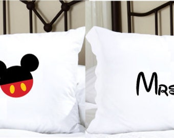 Personalized Pillowcases with Mr. and Mrs.