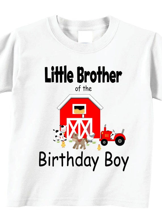 Little Brother Of The Birthday Boy Shirts And Tshirts Farm