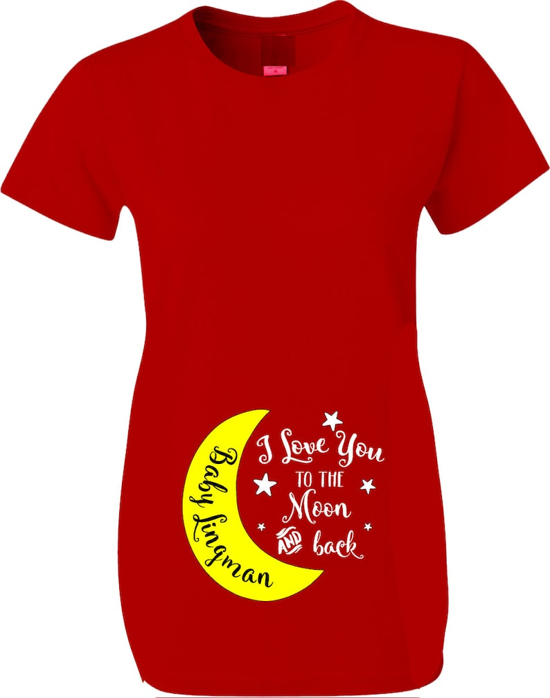 5ce60bb3b Valentines Day Maternity Shirts Love you to the Moon and Back | Etsy