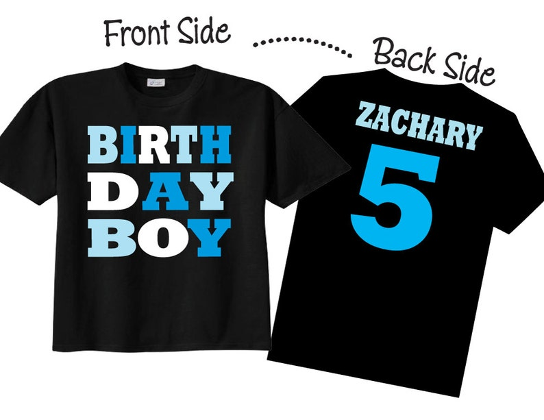 Birthday Boy Shirts and Tshirts for Fifth Birthday or any image 0
