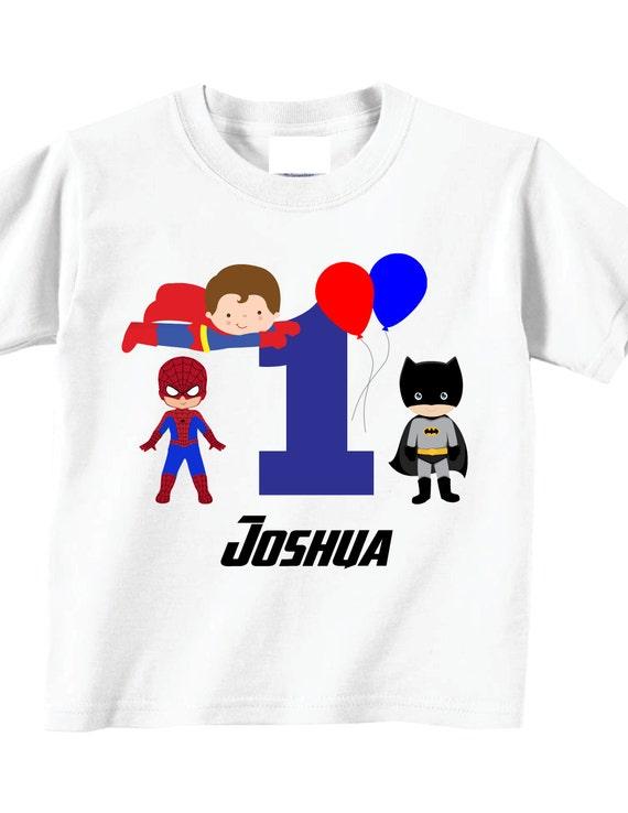 My 1st Birthday Shirts And Tshirts With Superhero Theme