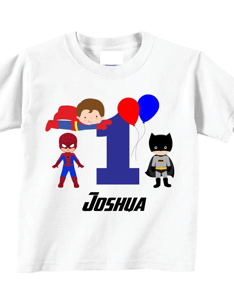 My 1st Birthday Shirts And Tshirts With Hero Theme