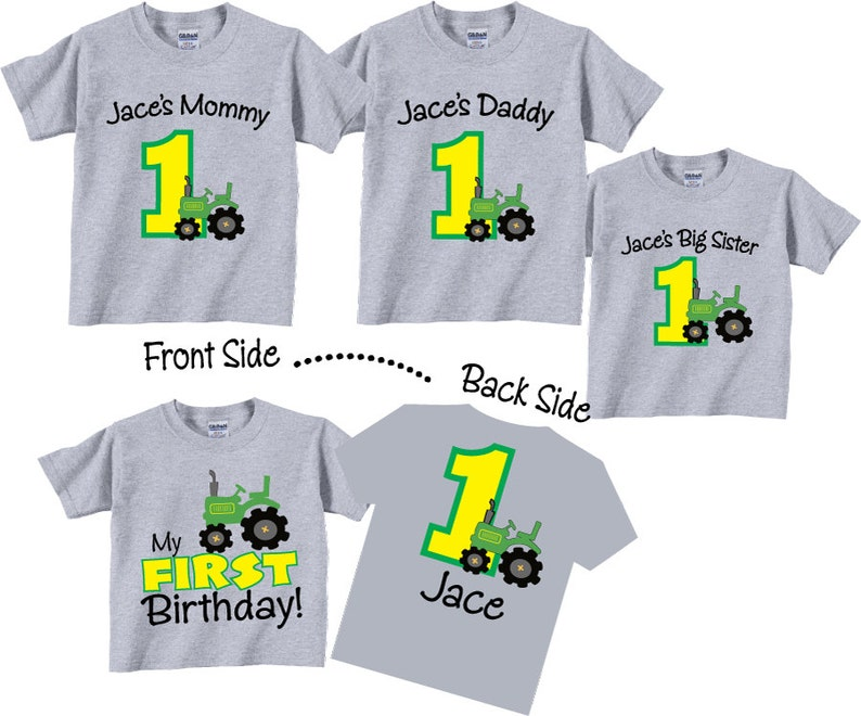 e8937070 4 shirt set 1st Birthday Shirts for Mom Dad and Sibling | Etsy