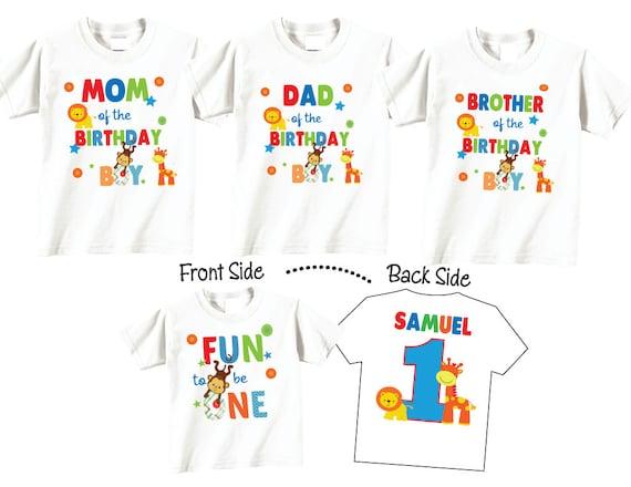 11 Shirt Set Birthday For Boy Mom And Dad