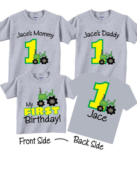 1st Birthday Shirts For Mom Dad And Sibling Family