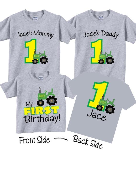 3 Shirt Set 1st Birthday Shirts For Mom Dad And Sibling