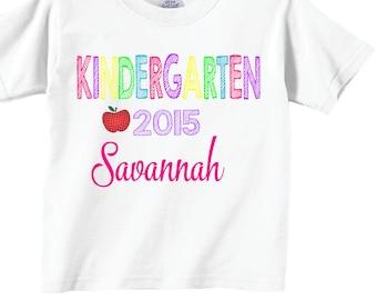Kindergarten Shirts for Girls 2015 Personalized Kindergarten Shirts