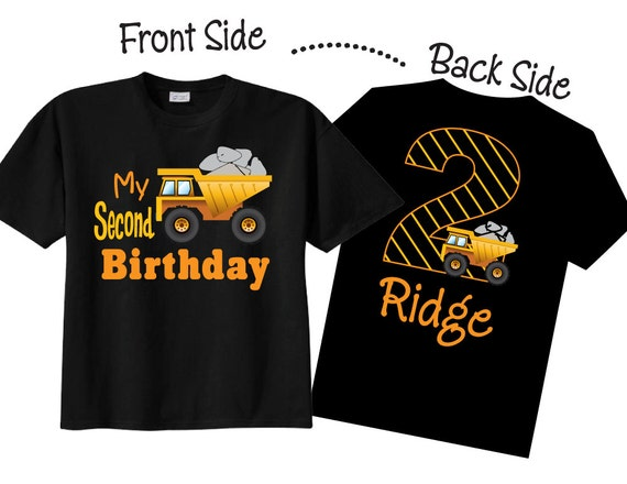 2nd Birthday Shirts With Construction For Boys