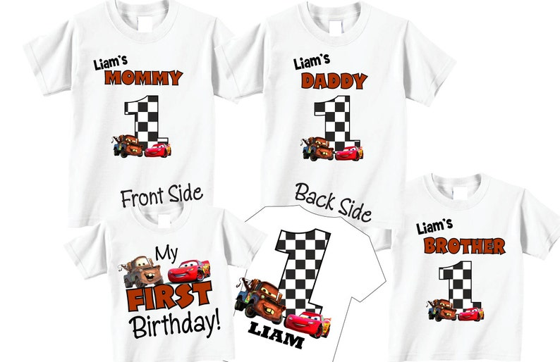 4 Shirt Set 1st Birthday Shirts For Mom And Dad Family