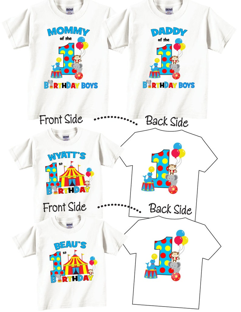 58ef13a9 4 shirt set Birthday Shirts for Mom and Dad and Twin Birthday   Etsy