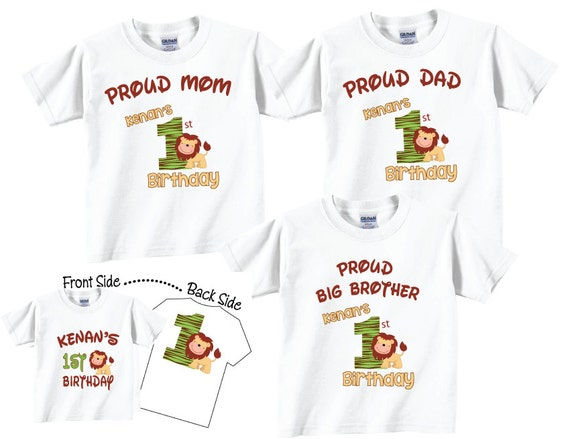 7 Shirt Set Birthday For Boy Mom Dad