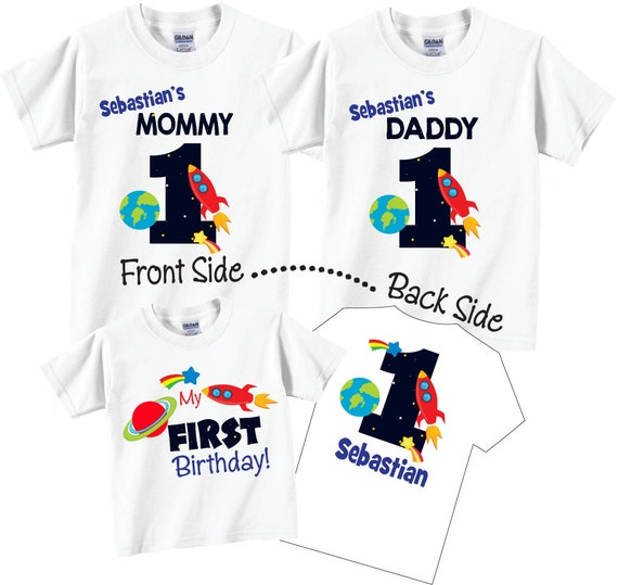 3 Shirt Set Birthday For Boy Mom And Dad