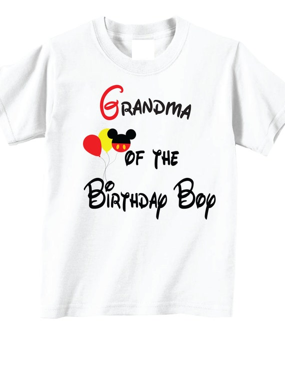 Grandma Of The Birthday Boy Shirts For
