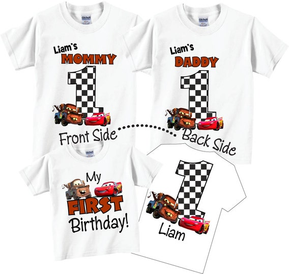 3 Shirt Set 1st Birthday Shirts For Mom And Dad Family