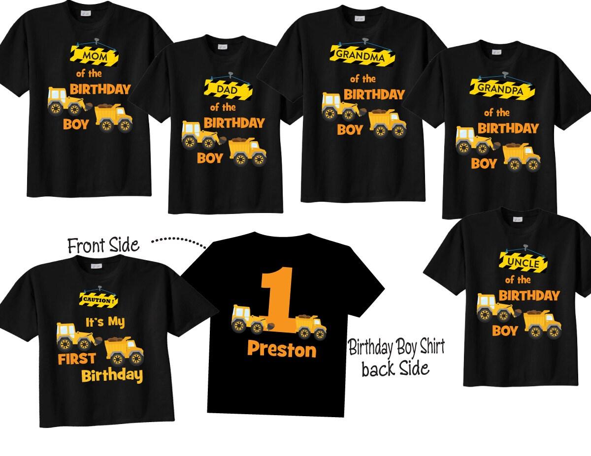 6 Shirt Set Mom Of The Birthday Boy Dad