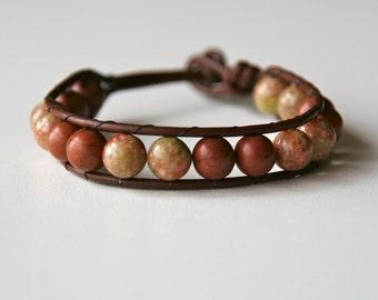 earth tones wrap bracelet