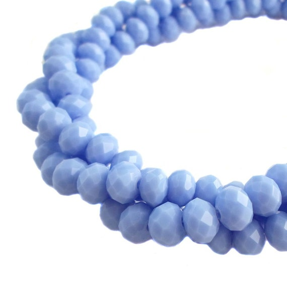 144 OPAQUE AB PURPLE CRYSTAL FACETED RONDELLE BEADS~8mm~Bracelets STRAND