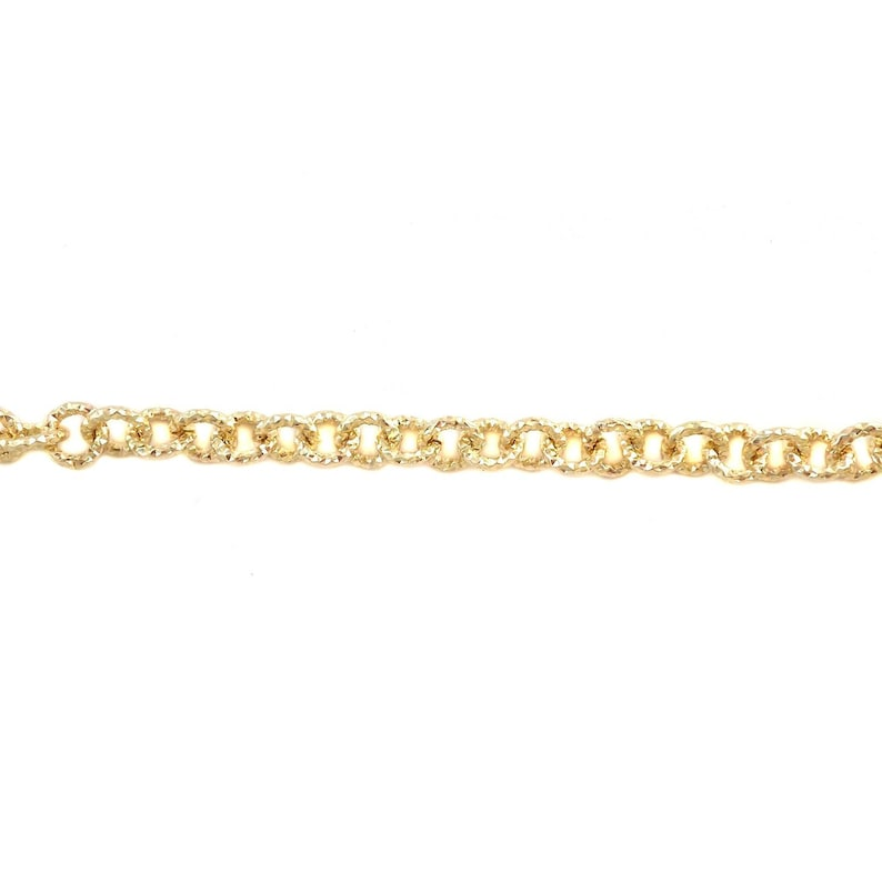 by The Foot or Spool for Jewelry Making and Crafts 11465 Belcher Rolo Round Textured Gold Aluminum Chain 9mm Tarnish Resistant