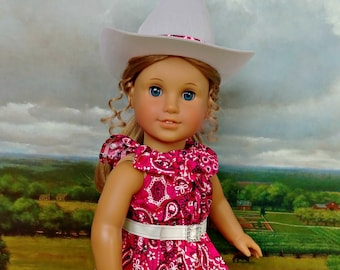 "Complete Doll Cowgirl Outfit in Dark Pink American Made for Your 18"" Girl"