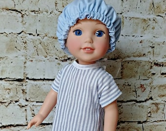 "Doll Hospital Gown -- American Made to Fit Your 14"" Girl or Boy Doll"