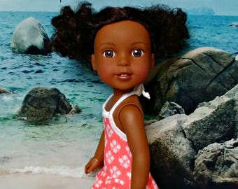 "Peach Doll Bathing Suit -- American Made to Fit Your 14"" Girl Doll"