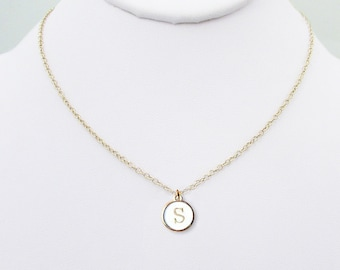 Initial s necklace etsy s personalized initial necklace gold s letter coin necklace gold white typewriter charm birthday chokers best s initial jewelry gifts aloadofball Choice Image