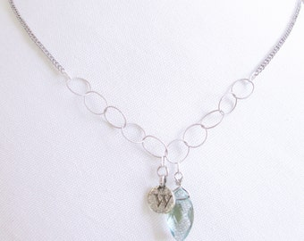 Letter w necklace with blue stone jewelry, great grandma gift for retirement necklace, w initial necklace for grandma gift, grandma necklace