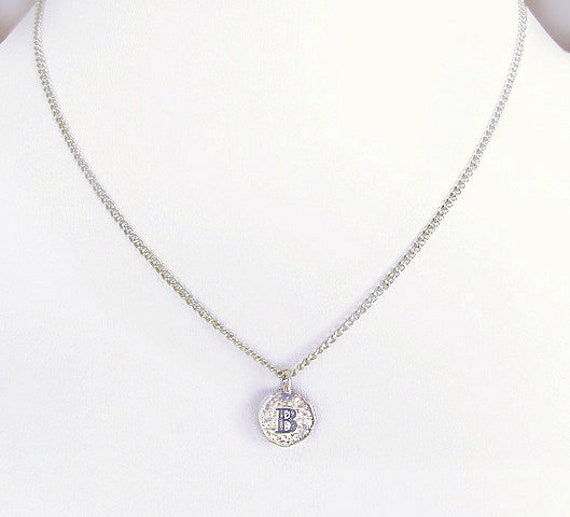 B personalized choker silver B initial coin choker for best  a4fe31ddb1e6a