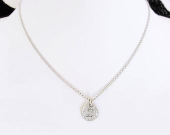 Z jewelry handmade necklace, z initial coin pendant choker, meaningful girlfriend Z letter jewelry pendant necklace gift, best friend Z gift