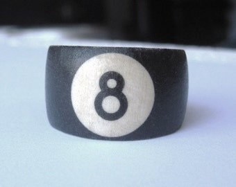 8 Ball (Pool Ball) -- wood ring 513301dfc223