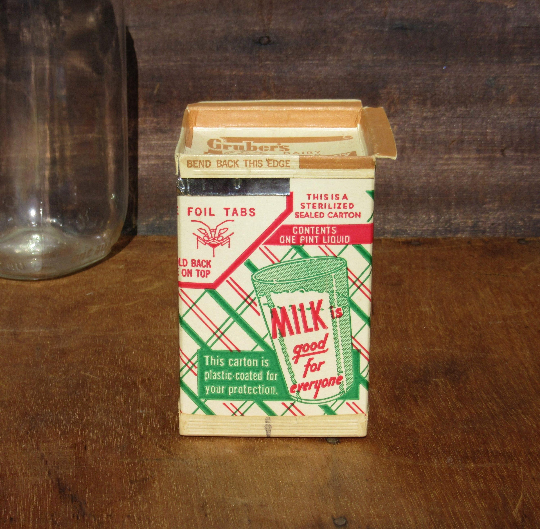 Vintage Molkerei Behältnis Gruber Schokolade Milchtüte nie | Etsy