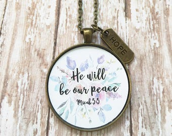 Miscarriage Necklace,Miscarriage Gift,Miscarriage Jewelry,Infertility Gift,Baby Memorial Gift,Stillborn Jewelry,He Will Be Our Peace