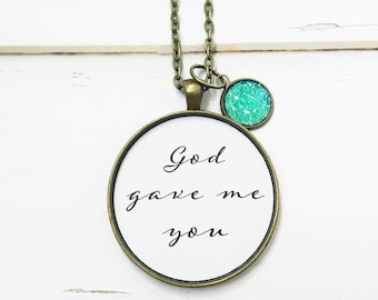 God Gave Me You,Bride Gift from Groom,Fiance Gift,Bride Gift on Wedding Day,Christian Wedding,Girlfriend Gift,Mothers Day from Husband