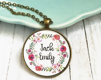 Mom Necklace with Kids Names,Personalized Necklace with Names,Mother's Day Gift with Grandkids Names,Grandma Necklace,Gifts for Her