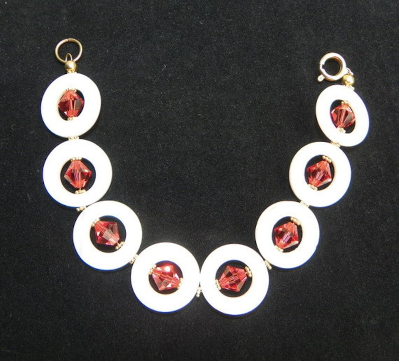 Shell and Orange Crystals 3 piece set
